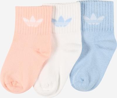 ADIDAS ORIGINALS Čarape u svijetloplava / breskva / bijela, Pregled proizvoda
