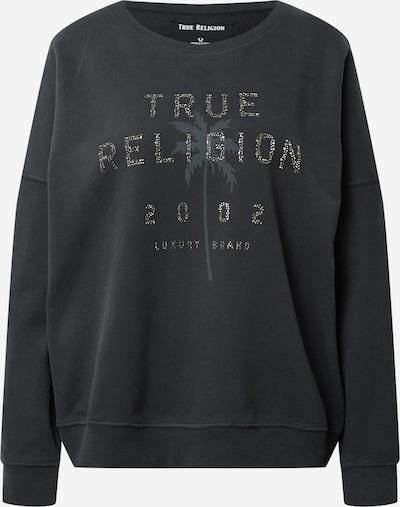 True Religion Sweat-shirt 'BOXY CREW NECK SWEAT PALM TREE' en bleu / gris, Vue avec produit