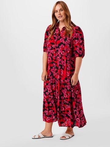 Rochie tip bluză 'MALLIE' de la Zizzi pe roșu