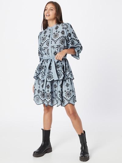 BRUUNS BAZAAR Kleid 'Rosie Sinea' in hellblau / schwarz, Modelansicht