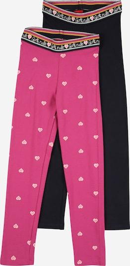 s.Oliver Leggings in dunkelblau / pink, Produktansicht