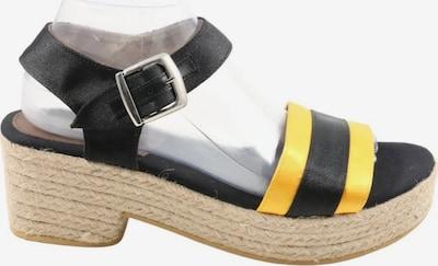 Gioseppo Plateau-Sandalen in 40 in pastellgelb / schwarz, Produktansicht