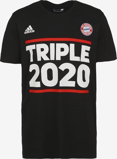 ADIDAS PERFORMANCE T-Shirt in rot / schwarz / weiß, Produktansicht