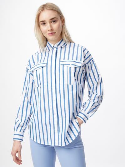 BOSS Bluse 'C_Beruno' in blau / weiß, Modelansicht
