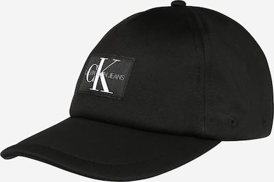 Șapcă Calvin Klein Jeans pe negru / alb, Vizualizare produs