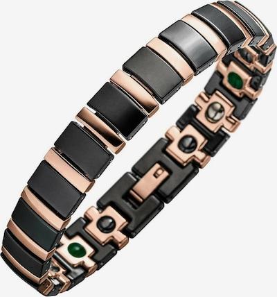 Lunavit Armband in de kleur Rose-goud / Zwart, Productweergave
