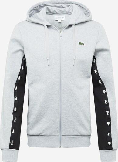 LACOSTE Sudadera con cremallera en gris claro / negro / blanco, Vista del producto