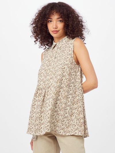 LTB Bluse 'LERIDE' in beige / dunkelbraun / weiß, Modelansicht