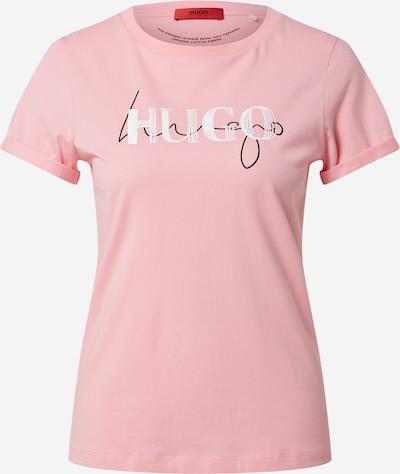 Tricou HUGO pe roz / negru / alb, Vizualizare produs