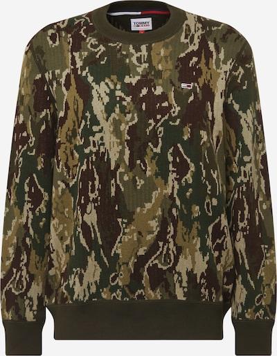 Tommy Jeans Tröja i beige / brun / khaki / mörkgrön, Produktvy