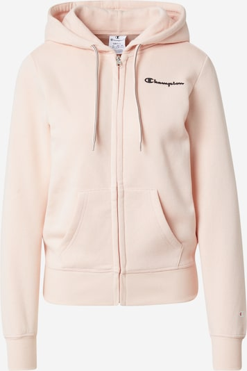 Champion Authentic Athletic Apparel Sweatjacke in rosa / schwarz, Produktansicht