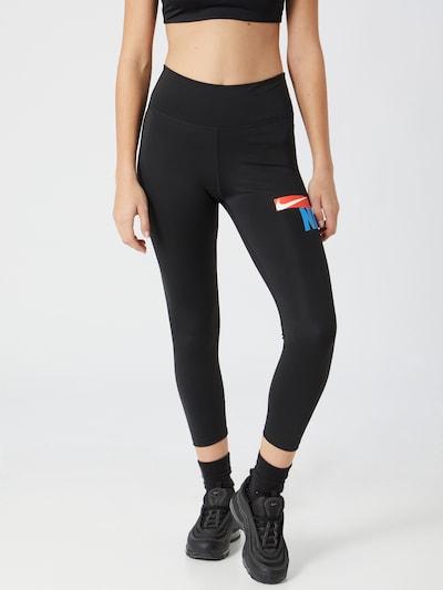 Pantaloni sport NIKE pe albastru / roșu / negru / alb, Vizualizare model