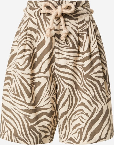 Pantaloni cutați Copenhagen Muse pe maro / maro cappuccino, Vizualizare produs