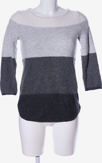 Cynthia Rowley Rundhalspullover in M in hellgrau / schwarz / wollweiß, Produktansicht