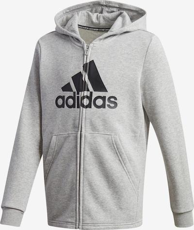 ADIDAS PERFORMANCE Sport-Sweatjacke in grau / schwarz, Produktansicht