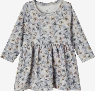 NAME IT Kleid 'Nille' in beige / taubenblau / grau, Produktansicht