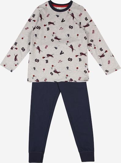 SANETTA Pidžama set u plava / siva / crvena, Pregled proizvoda