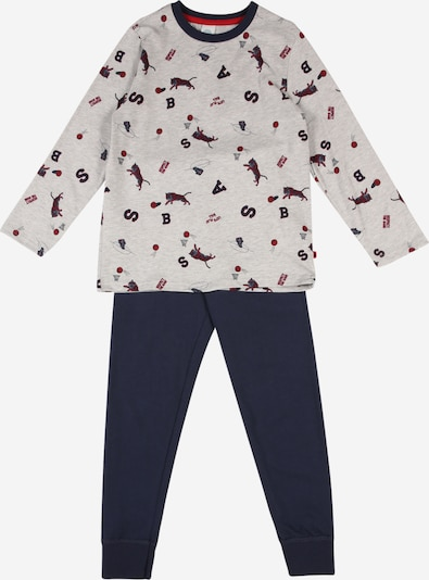 SANETTA Pyjama in blau / grau / rot, Produktansicht