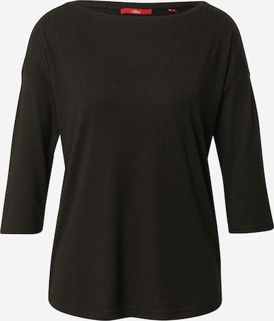 s.Oliver 3/4-Arm-Shirt aus Rippware in schwarz, Produktansicht