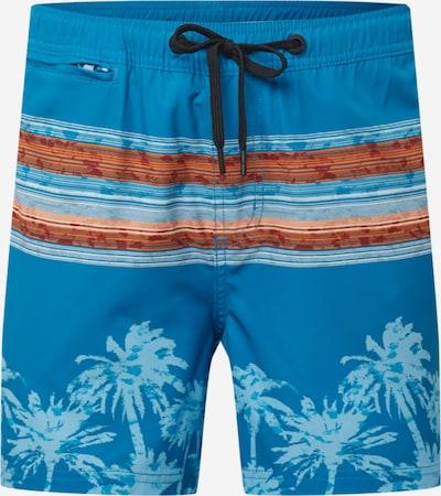 Pantaloncini da bagno 'Stane' G.I.G.A. DX by killtec di colore blu reale / blu chiaro / aragosta / arancione pastello, Visualizzazione prodotti