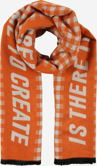 Karo Kauer Scarf in Orange / White, Item view