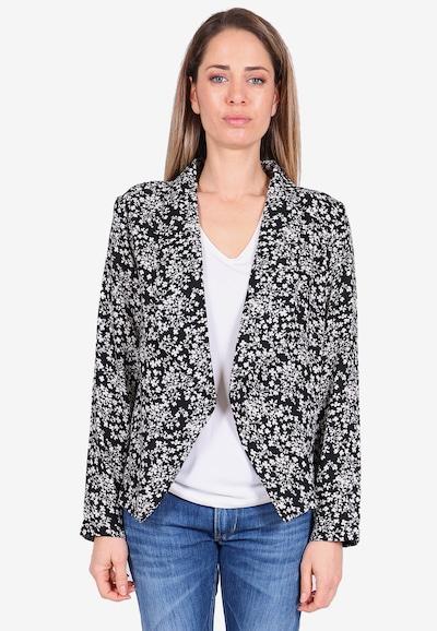 Le Temps Des Cerises Blazer OPAL mit floralem Alloverprint in schwarz / weiß, Modelansicht