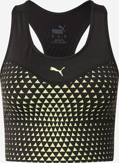 PUMA Sports bra 'Mid Graphic' in Neon yellow / Black, Item view