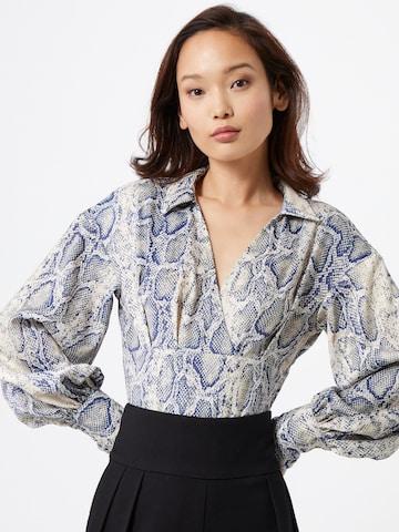 Body a camicia di Unique21 in blu