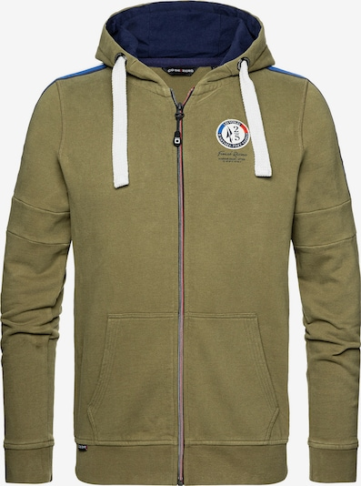 CODE-ZERO Kapuzensweatjacke 'Antibes Limited Zip Sweater' in grün / oliv, Produktansicht