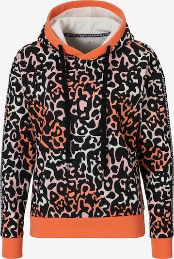 BUFFALO Sweatshirt in orange / lachs / schwarz / weiß, Produktansicht