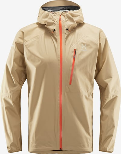 Haglöfs Funktionsjacke 'L.I.M' in beige / orange / weiß, Produktansicht