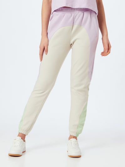 ONLY Trousers in Beige / Mint / Lavender, View model
