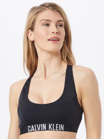 Calvin Klein Swimwear Bikinitop in Black