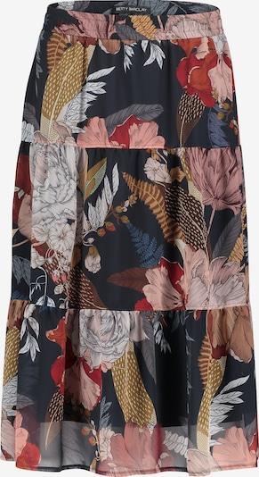Betty Barclay Jupe en bleu foncé / marron / rouge foncé / blanc, Vue avec produit