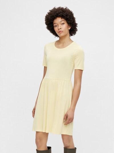 PIECES Kleid 'Kamala' in pastellgelb, Modelansicht