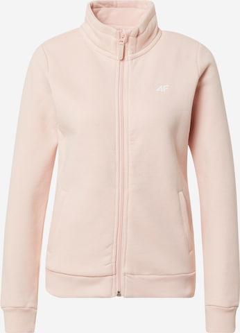 4F Bluza rozpinana sportowa w kolorze różowy