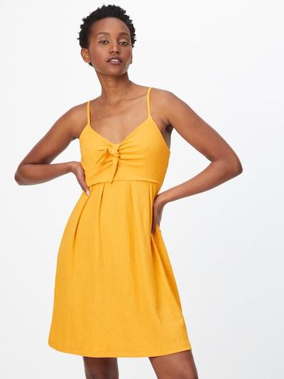 ABOUT YOU Robe 'Lewe' en jaune / moutarde, Vue avec modèle