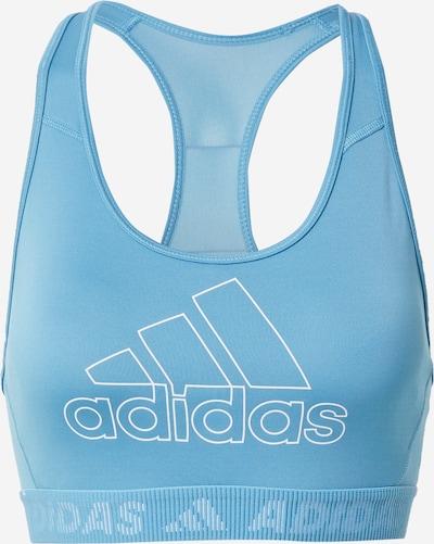 ADIDAS PERFORMANCE Sport-BH in hellblau / weiß, Produktansicht
