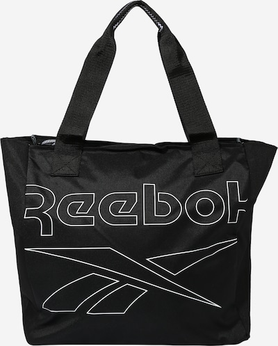 REEBOK Sports bag in black / white, Item view