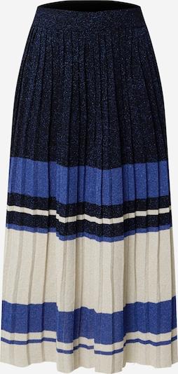 Twinset Rok in de kleur Crème / Royal blue/koningsblauw / Donkerblauw, Productweergave