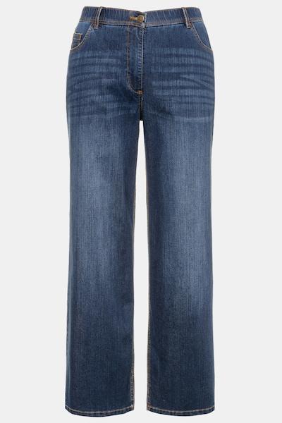 Ulla Popken Ulla Popken Damen große Größen Weite Jeans 724600 in blue denim: Frontalansicht