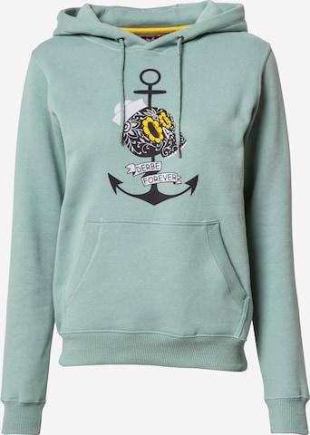 Derbe Sweatshirt 'Forever' in Green