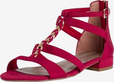 TAMARIS Remienkové sandále - zlatá / červená, Produkt