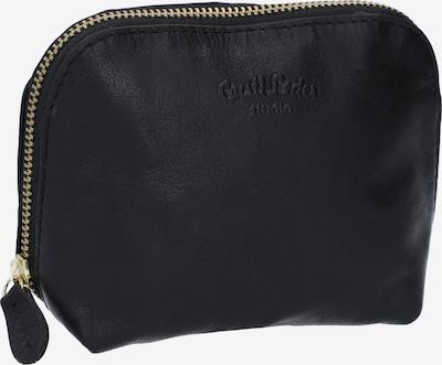 Gusti Leder Kosmetiktasche 'Leo' in schwarz, Produktansicht