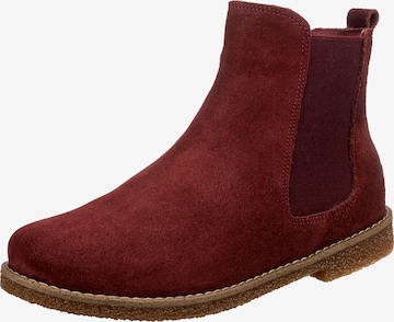 ANDREA CONTI Chelsea Boots in Rot