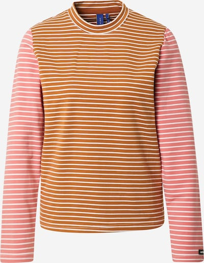 Résumé Shirt 'Gertie' in de kleur Bruin / Rosa / Wit, Productweergave