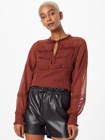 Guido Maria Kretschmer Collection Blouse 'Ginny' in Brown, View model
