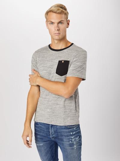 ABOUT YOU Koszulka 'Dean' w kolorze szary / czarnym: Widok z przodu
