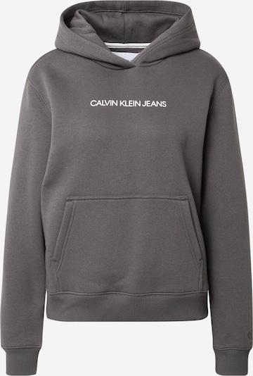 Calvin Klein Jeans Sweatshirt in Dark grey / White, Item view