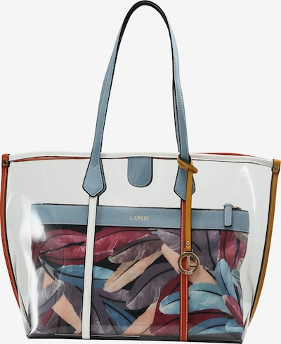 L.CREDI Shopper Emeline Shopper in mischfarben / transparent, Produktansicht